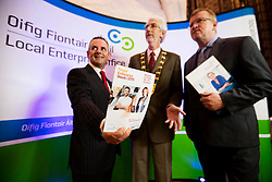 Repro Free:  Dublin: 05/10/2015<br /> Paul Reid, Chief Executive at Fingal County Council, Mayor of Fingal. Cllr. David O'Connor and Oisin Geoghegan, Head of Enterprise, Fingal County Council are pictured at the &lsquo;Fingal Start-up Day&rsquo; witch kick started Fingal Enterprise Week where over 1,200 business owner/managers are expected to participate in 30+ seminars, workshops and networking events taking place throughout the region this week. An initiative of the Fingal Local Enterprise Office and supported by Vodafone and Bank of Ireland, Fingal Enterprise Week runs until the 9th of October. For a full listing of events visit www.fingalenterpriseweek.ie.  Picture Andres Poveda<br /> <br /> ENDS:<br /> For further information contact:<br /> Ann-Marie Sheehan, Aspire PR T : 087 298 5569 E : annmarie@aspire-pr.com
