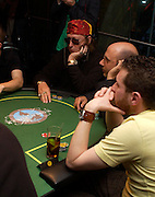 John McCririck. Opening Night Party of the first  cards tournament hosted by online poker website World Poker Exchang. Old Billingsgate Market, London. 3 August 2005. ONE TIME USE ONLY - DO NOT ARCHIVE  © Copyright Photograph by Dafydd Jones 66 Stockwell Park Rd. London SW9 0DA Tel 020 7733 0108 www.dafjones.com