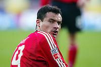 Fussball / 1. Bundesliga Saison 2002/2003 Marko BABIC blickt ueber die Schulter Bayer 04 Leverkusen