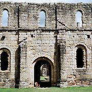 Fountains Abbey, North Yorkshire, was founded by Cistercian monks in 1132 and is the largest monastic ruin in Britain. In 1987, it was awarded World Heritage status., North Yorkshire, England. 23rd July 2011. Photo Tim Clayton