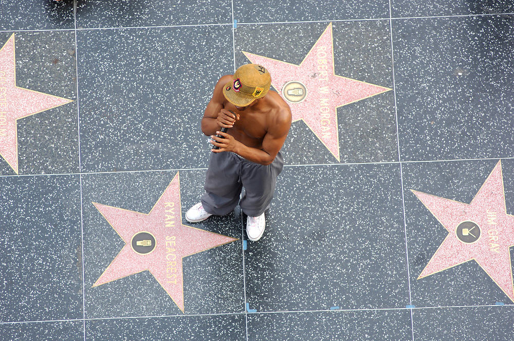 Street Performer, Walk of Fame, Hollywood Boulevard, Hollywood, Los Angeles, California, United States of America