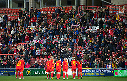 WREXHAM, WALES - Friday, March 6, 2020: Wales supporters applaud the players after an International Friendly match between Wales Women and Estonia Women at the Racecourse Ground. Wales won 2-0. (Pic by David Rawcliffe/Propaganda)