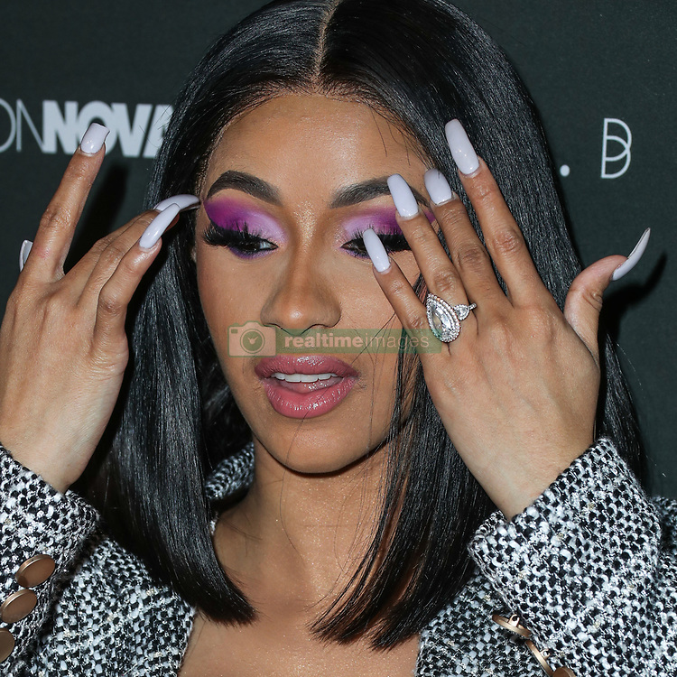 HOLLYWOOD, LOS ANGELES, CA, USA - NOVEMBER 14: Rapper Cardi B (Belcalis Marlenis Almanzar) arrives at the Fashion Nova x Cardi B Collaboration Launch Event held at Boulevard3 on November 14, 2018 in Hollywood, Los Angeles, California, United States. 14 Nov 2018 Pictured: Cardi B, Belcalis Marlenis Almanzar. Photo credit: Xavier Collin/Image Press Agency/MEGA TheMegaAgency.com +1 888 505 6342