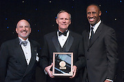 18450Alumni Awards Gala: ..Michael E. Jackson, BSED'68 (medal of merit)....Dennis Minichello,  and  Dell Robinson