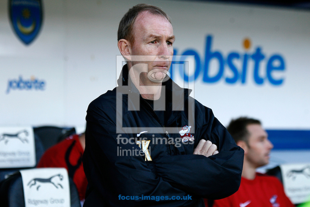 Picture by Daniel Chesterton/Focus Images Ltd +44 7966 018899.29/09/2012.Scunthorpe United manager Alan Knill before the npower League 1 match at Fratton Park, Portsmouth.