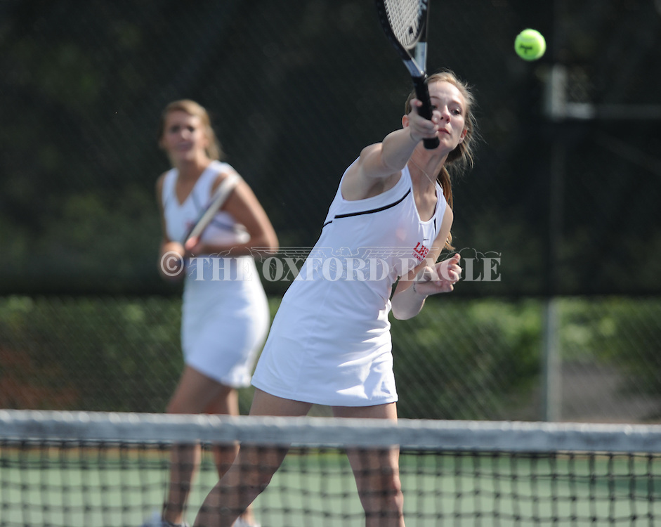 Oxford High vs. Lafayette High in high school tennis action at Avent Park in Oxford, Miss. on Thursday, April 12, 2012.