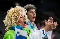 Fans during the 2017 IIHF Men's World Championship group B Ice hockey match between National Teams of Finland and Slovenia, on May 10, 2017 in AccorHotels Arena in Paris, France. Photo by Vid Ponikvar / Sportida