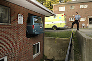 2007 - Van misses turn, ends up in Dayton apartment building