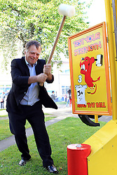 © Licensed to London News Pictures. 29/09/2012. Oxford,UK. Andrew Smith, MP for Oxford East, limbers up for the Labour Party Conference which opened in Manchester today (Saturday) at a fun day in his constituency. Photo credit : Ric Mellis/LNP