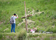 "Konor Anderson spends some time at a memorial for his friend and classmate Sydney Judge, the 16-year-old Jackson girl who died Sunday in a car crash near the Old West Cabins south of Jackson. ""I couldn't believe it when she was gone,"" Anderson said. ""My heart just dropped because we used to talk a little bit and we had classes together. It's been a long couple of days."" A celebration of life will be held 5 p.m. Thursday at Mill Iron Ranch on Horse Creek Road."