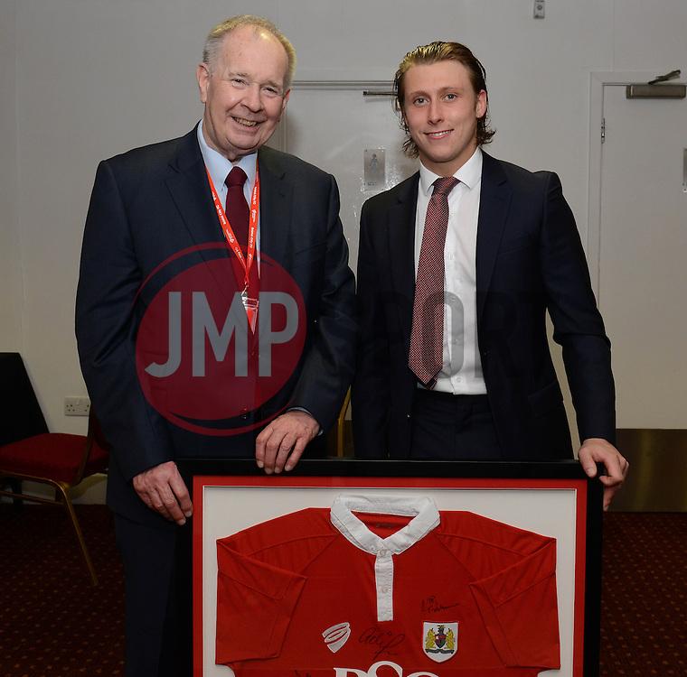 Man of the match presentation - Photo mandatory by-line: Dougie Allward/JMP - Mobile: 07966 386802 - 07/04/2015 - SPORT - Football - Bristol - Ashton Gate - Bristol City v Swindon Town - Sky Bet League One