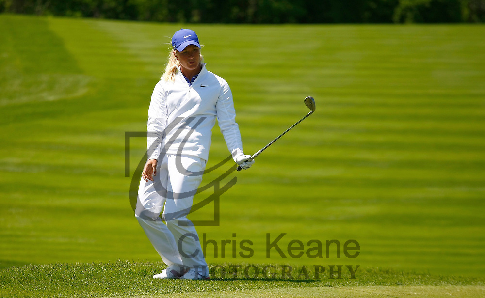 17 May 2012: Suzann Pettersen reacts to her pitch to the green on 15 during the first round of match play at the Sybase Match Play Championship at Hamilton Farm Golf Club in Gladstone, New Jersey on May 17, 2012.  (Photo by Chris Keane - www.chriskeane.com)