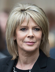 © Licensed to London News Pictures. 27/09/2016.  Ruth Langsford leaves Westminster Abbey after attending a Service of Thanksgiving for the Life and Work of Sir Terry Wogan . Veteran broadcaster Sir Terry Wogan died in January 2016. The Irish star had a long and successful career at the BBC, including stints on  radio and TV. London, UK. Photo credit: Peter Macdiarmid/LNP