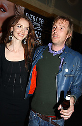 RHYS IFANS and SAFFRON BURROWS at a party to celebrate Pamela Anderson's new role as spokesperson and newest face of the MAC Aids Fund's Viva Glam V Campaign held at Home House, Portman Square, London on 21st April 2005.<br />