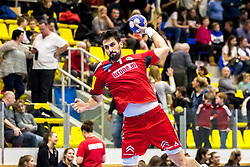 05.01.2018, BSZF Suedstadt, Maria Enzersdorf, AUT, Handball Testspiel, Österreich vs Tschechien, im Bild Janko Bozovic (AUT) // during a men' s international friendly handball match between Austria and Czech Republic at the BSZF Suedstadt, Maria Enzersdorf, Austria on 2018/01/05, EXPA Pictures © 2017, PhotoCredit: EXPA/ Sebastian Pucher