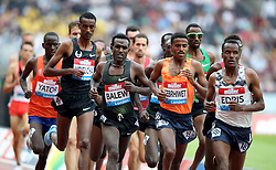 Bahrain's Birhanu Balew (centre left) in action during the Men's 5000m during day one of the Muller Anniversary Games at The Queen Elizabeth Stadium, London.