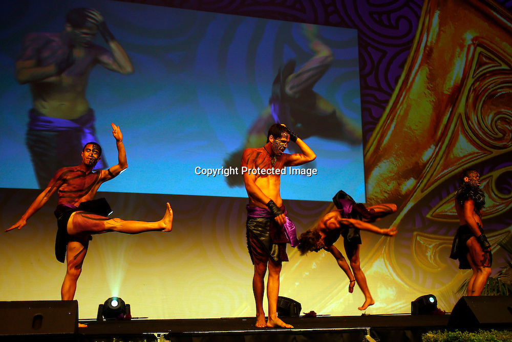 JGeeks perform. Maori Sports Awards, Telstra Pacific Events Centre Manukau, Saturday 24th November 2012. Photo: Shane Wenzlick / Photosport.co.nz