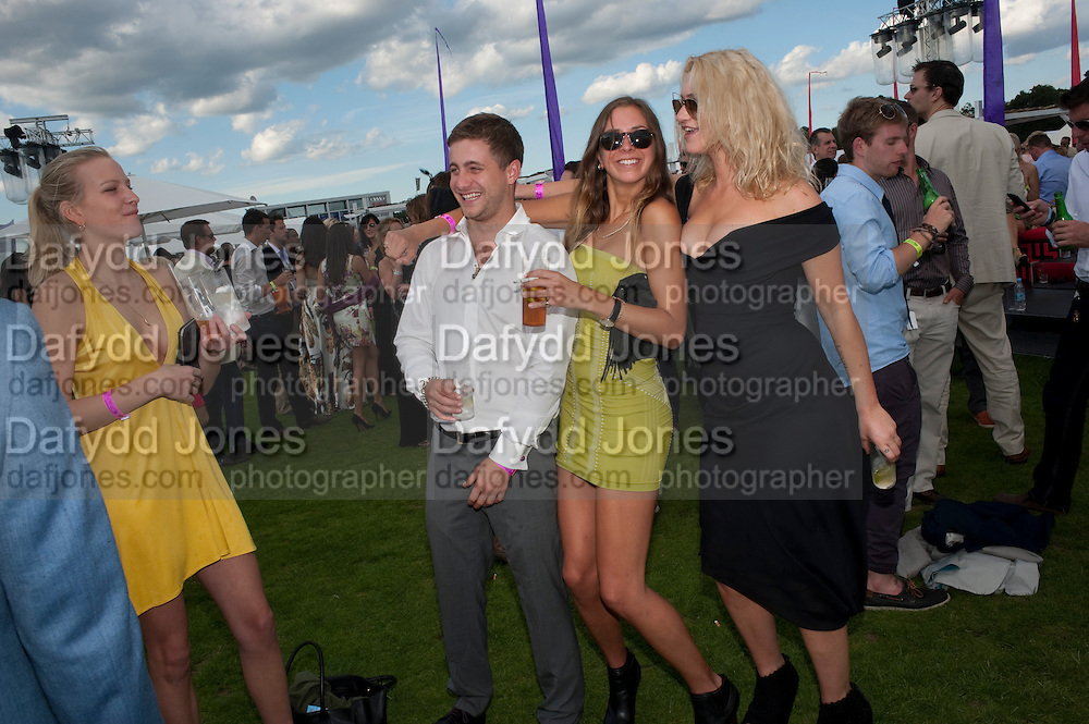 POSY BRINDLEY; TYRONE WOOD; ALICE BRINKLEY; ROSIE EGAN, After party at China White's club. Cartier International Day at Guard Polo Club, Windsor Great Park. 24 July 2011. ChinaWhite Tent during Cartier Polo. <br /> <br />  , -DO NOT ARCHIVE-&copy; Copyright Photograph by Dafydd Jones. 248 Clapham Rd. London SW9 0PZ. Tel 0207 820 0771. www.dafjones.com.