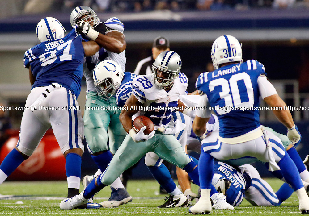 21 DEC 2014: Dallas Cowboys Running Back DeMarco Murray (29) [16636] during an NFL regular season game between the Indianapolis Colts and Dallas Cowboys at AT&T Stadium in Arlington, TX.