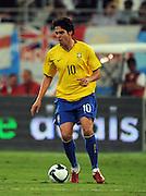Kaka in action for Brazil against England. Khalifa Stadium, Doha, Brazil v England  (1-0) 14/11/2009.