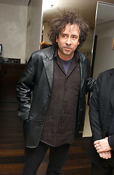 Film director TIM BURTON at a party to celebrate the opening of Maze - a new Gordon Ramsay restaurant at 10-13 Grosvenor Square, London W1 on 24th May 2005.<br />