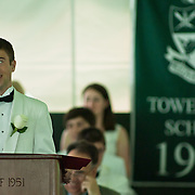 06/04/11 Wilmington DE: Tower Hill 2011 speaker Andrew Connor Gates addresses his fellow classmates during Tower Hill graduation exercise Saturday, June 4, 2011 at Tower Hill School In Wilmington Delaware...Special to The News Journal/SAQUAN STIMPSON