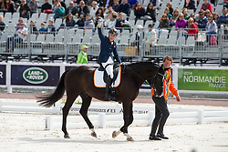 Nicole den Dulk, (NED), Wallace - Freestyle Grade Ib Para Dressage - Alltech FEI World Equestrian Games™ 2014 - Normandy, France.<br /> © Hippo Foto Team - Leanjo de Koster<br /> 25/06/14