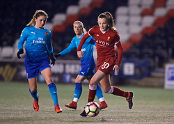 WIDNES, ENGLAND - Wednesday, February 7, 2018: Liverpool's Caroline Weir during the FA Women's Super League 1 match between Liverpool Ladies FC and Arsenal Ladies FC at the Halton Stadium. (Pic by David Rawcliffe/Propaganda)