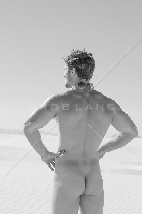nude man from behind outdoors