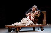 Rigoletto <br /> by Verdi <br /> English National Opera at the London Coliseum, London, Great Britain <br /> rehearsal <br /> 31st January 2017 <br /> <br /> <br /> <br /> Nicholas Pallesan as Rigoletto <br /> Sydney Mancasola as Gilda <br /> <br /> <br /> <br /> <br /> Photograph by Elliott Franks <br /> Image licensed to Elliott Franks Photography Services