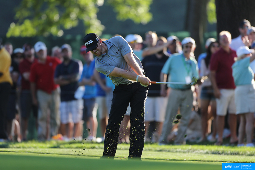 Hunter Mahan, USA, in action during the fourth round of theThe Barclays Golf Tournament at The Ridgewood Country Club, Paramus, New Jersey, USA. 24th August 2014. Photo Tim Clayton