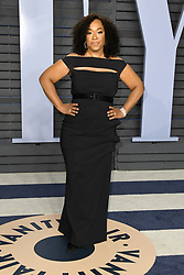 March 4, 2018 - Los Angeles, CA, U.S. - 04 March 2018 - Los Angeles, California - Shonda Rhimes. 2018 Vanity Fair Oscar Party following the 90th Academy Awards held at the Wallis Annenberg Center for the Performing Arts. Photo Credit: Birdie Thompson/AdMedia (Credit Image: © Birdie Thompson/AdMedia via ZUMA Wire)