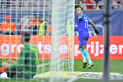 November 14, 2017 - Bucharest, Romania - Netherlands's Memphis celebrates a goal during International Friendly match between Romania and Netherlands at National Arena Stadium in Bucharest, Romania, on 14 november 2017. (Credit Image: © Alex Nicodim/NurPhoto via ZUMA Press)