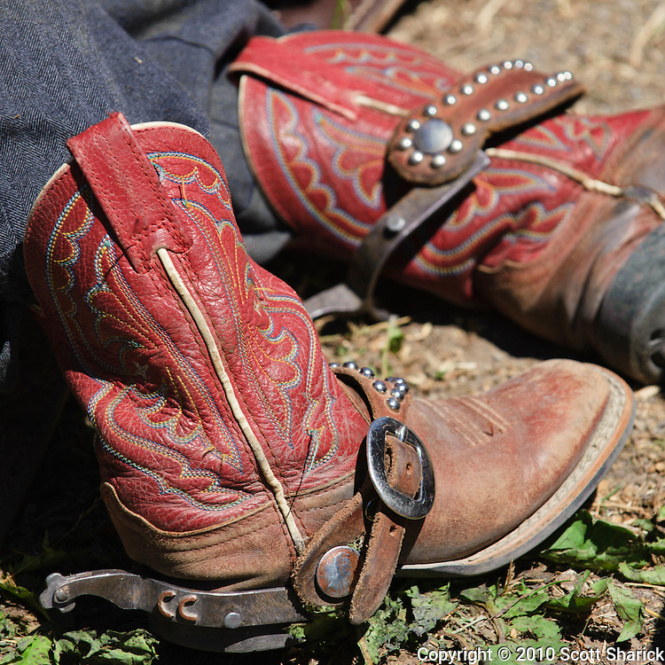 A young boys cowboy boots at the Augusta Montana Rodeo. Missoula Photographer, Missoula Photographers, Montana Pictures, Montana Photos, Photos of Montana