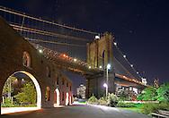 Brooklyn Bridge Park and Triangle Garden. New York City.