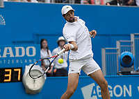 Tennis - 2017 Aegon Championships [Queen's Club Championship] - Day Four, Thursday <br /> <br /> Men's Singles: Round of 16 - Jeremy CHARDY (FRA)<br /> vs Feliciano LOPEZ (ESP)<br /> <br /> Jeremy Chardy (FRA) at Queens Club<br /> <br /> COLORSPORT/DANIEL BEARHAM