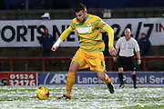 Yeovil Defender Yakub Sokolik during the Sky Bet League 2 match between Morecambe and Yeovil Town at the Globe Arena, Morecambe, England on 16 January 2016. Photo by Pete Burns.