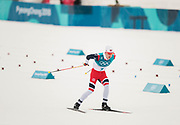 PYEONGCHANG-GUN, SOUTH KOREA - FEBRUARY 11: Simen Hegstad Krueger of Norway during the Mens Skiathlon 15km+15km Cross-Country Skiing on day two of the PyeongChang 2018 Winter Olympic Games  at Alpensia Cross-Country Centre on February 11 in Pyeongchang-gun, South Korea. Photo by Nils Petter Nilsson/Ombrello               ***BETALBILD***