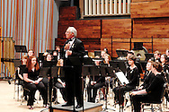 WSU President David Hopkins welcomes patrons to ArtsGala at the beginning of the Wind Symphony concert in the brand new Schuster Hall during the 13th Annual ArtsGala at Wright State University's Creative Arts Center, Saturday, March 31, 2012.