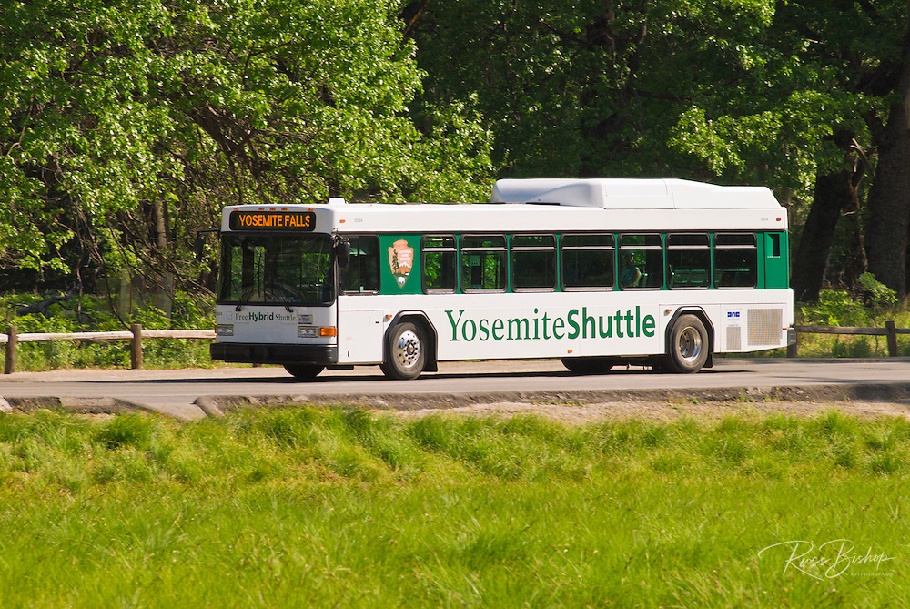 Hybrid shuttle bus, Yosemite National Park, California