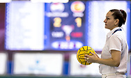 Dreval Referee<br /> LEN Europa Cup Women 2018 finals<br /> NED-ESP Netherlands (white caps) V. Spain (blue caps) 3rd - 4th place<br /> Water Polo, Pallanuoto<br /> Pontevedra, Spain<br /> Complejo Rias do sur<br /> Day03<br /> Photo &copy; Giorgio Scala/Deepbluemedia/Insidefoto