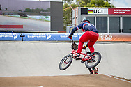 #974 (MAYET Romain) FRA at Round 2 of the 2020 UCI BMX Supercross World Cup in Shepparton, Australia.