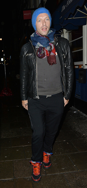 Coldplay frontman Chris Martin leaving the Groucho Club in Soho, London, UK. 12/12/2104<br />