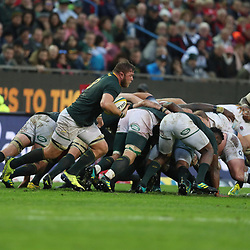 Duane Vermeulen of South Africa picks up from a scrum during the 2018 Castle Lager Incoming Series 3rd Test match between South Africa and England at Newlands Rugby Stadium,Cape Town,South Africa. 23,06,2018 Photo by (Steve Haag JMP)