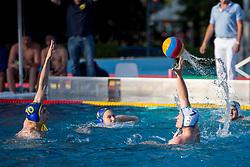 Amirali Yousefi of VKL Ljubljana Slovan during water polo match between VKL Ljubljana Slovan and AVK Triglav Kranj in 3rd Round of Final of Slovenian Water polo National Championship, on June 16, 2018 in Kodeljevo, Ljubljana, Slovenia. Photo by Urban Urbanc / Sportida