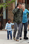 May 9, 2014 - New York City, NY, United States - <br /> <br /> Sean Penn leaves a downtown hotel with Charlize Theron's adopted son<br /> <br /> Actor Sean Penn leaves a downtown hotel with Charlize Theron's adopted son Jackosn on May 9 2014 in New York City <br /> ©Exclusivepix