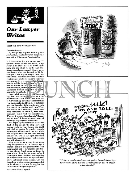 "Page 109, 17 January 1979. ""Our Lawyer Writes:""; two cartoons."