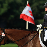 Sarah Loewen and Ricardo at the 2010 North American Young Rider Championships in Lexington, Kentucky.