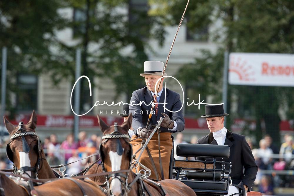 Geerts Glenn, BEL, Dash, De Solist, Erdball, Scampolo<br /> FEI European Driving Championships - Goteborg 2017 <br /> &copy; Hippo Foto - Dirk Caremans