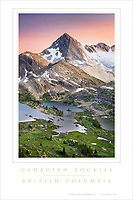 Canadian Rockies Limestone Lakes Poster